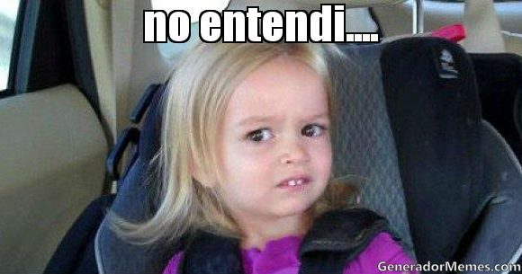 """NO ENTIENDO NI JOTA"""